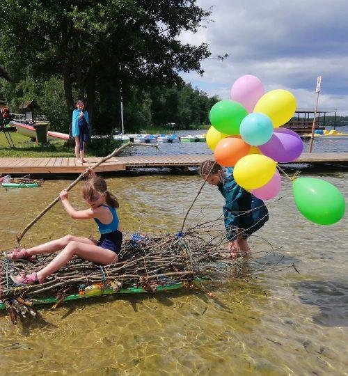 zabawa nad wodą